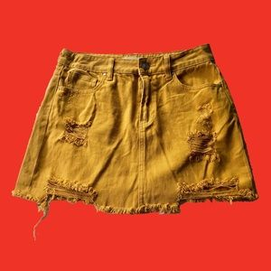 Pacsun Yellow Denim Skirt
